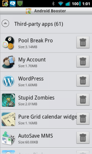 Android Booster Free Third Party Apps