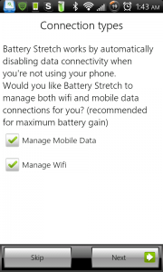 Battery Stretch Connection Management Options