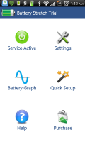 Battery Stretch Main Screen