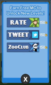 Blast Monkeys Earn Coins Screen