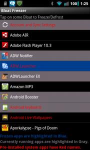 Bloat Freezer List Of Apps