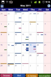 Business Calendar Monthly