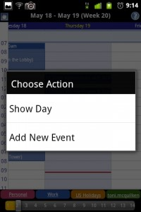 Business Calendar New Event