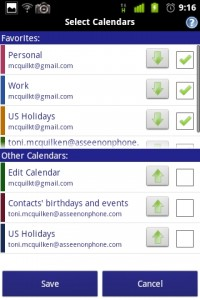 Business Calendar Select Calendars