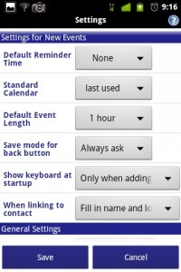 Business Calendar Settings 3