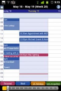 Business Calendar Weekly