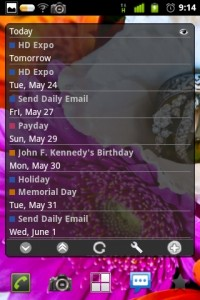 Business Calendar Widget