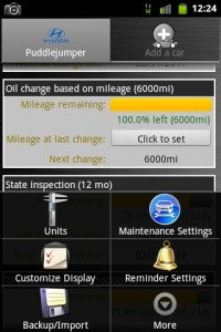 Car Maintenance Menu Options