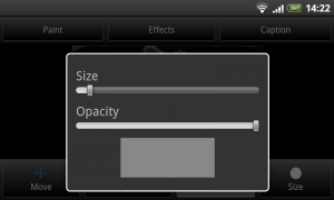 Color Touch Effects - Adjust paint brush