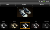 Color Touch Effects - Effects select