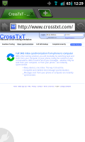 CrossTxT Inbox Sync Website Info