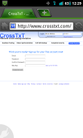 CrossTxT Website Sign Up