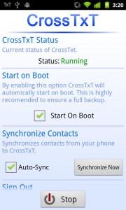 CrossTxt Status