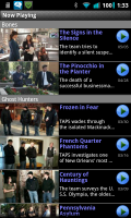 Droid TV Now Playing