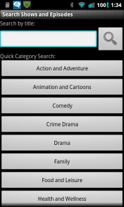 Droid TV Search