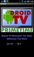 Droid TV Start Up
