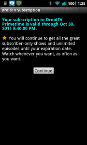Droid TV Subscription