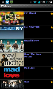 Droid TV TV Guide cont.