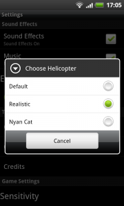 Extreme Helicopter - Helicopter choice