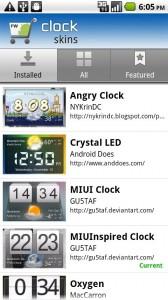 Fancy Widget Pro Clock Skins