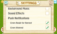 Farm Story Settings
