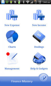 Finance Mastery Main Screen