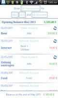 Finance Mastery Transaction List