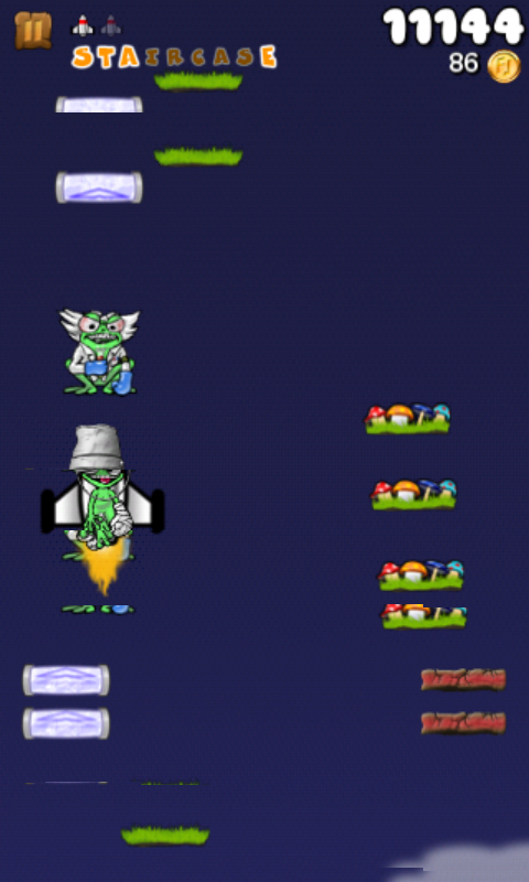 Froggy Jump an Accelerometer Jump Game similar to Mega Jump or Abduction!