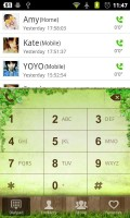 GO Contacts Floral Dialer Theme
