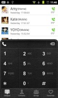 GO Contacts Leather Dialer Theme