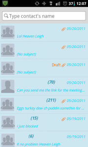 GO SMS Pro Search