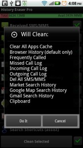 History Eraser - Notification