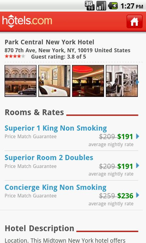 Hotels.com – Book Hotels on your Android Device