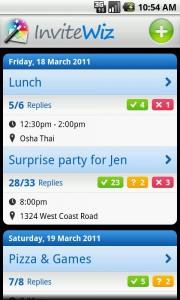 InviteWiz Upcoming Events