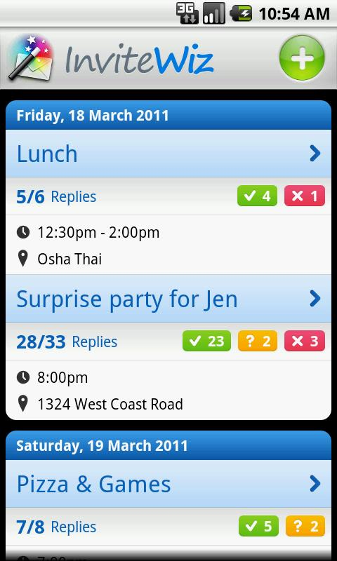 InviteWiz, an Event Invitation Management Android App