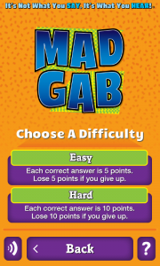 MadGab Question Difficulty