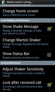 Martini Lock Settings