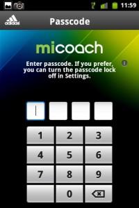 MiCoach Passcode