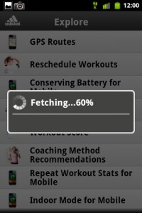 MiCoach Syncing