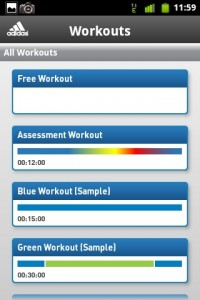 MiCoach Workouts