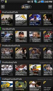 NBC Sports Talk Main Screen