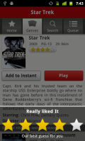 Netflix Rate Movies and TV Shows within the App