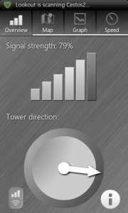 Open Signal Maps Cell Strength and Tower Direction