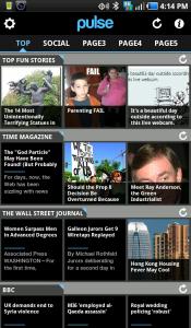 Pulse News Reader Main Application