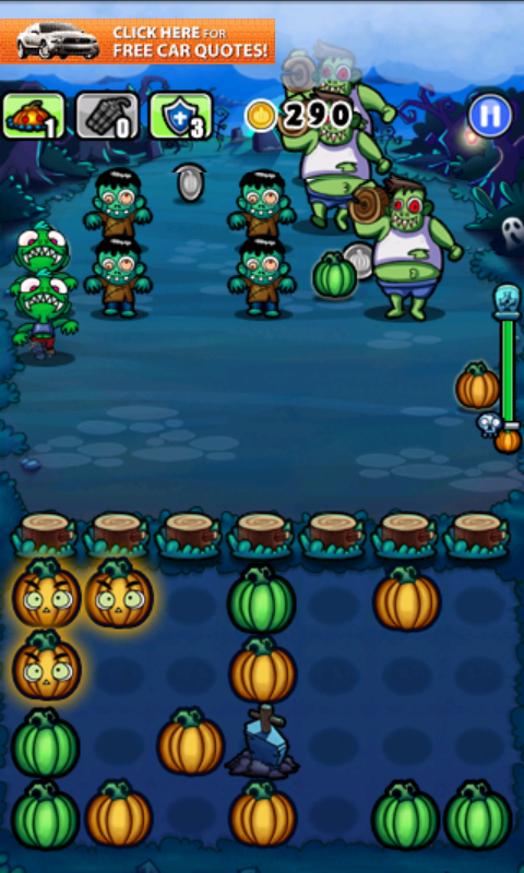 Pumpkins vs. Monsters an Extremely Addictive Puzzle Action Game