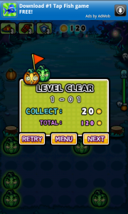 Pumpkins vs Monsters Level Cleared