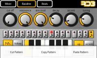 RD3 Groovebox - Bassline Menu