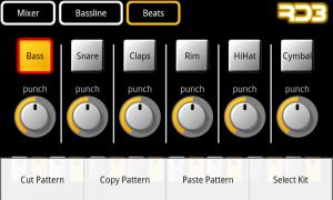 RD3 Groovebox - Beats Menu