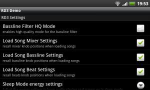RD3 Groovebox - Settings