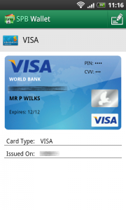 SPB Wallet Credit card sample